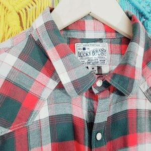 Lucky Brand Classic Plaid Button Down Shirt